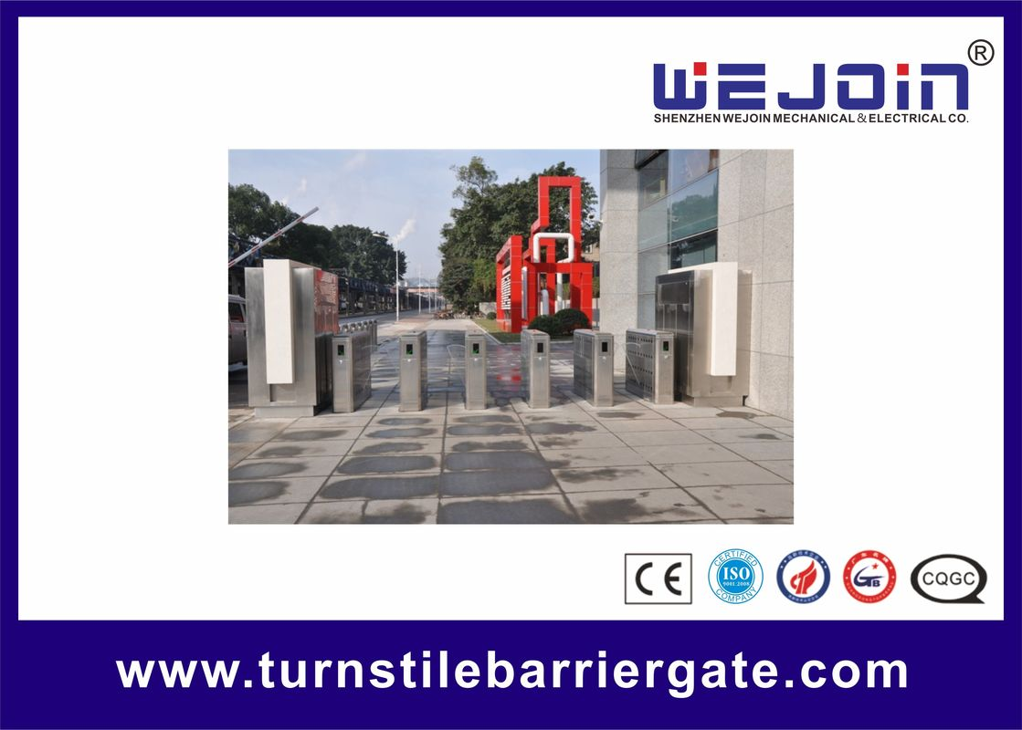 Organic Speed Gate Retractable Flap Barrier Gate Stainless Steel Pedestrian Turnstiles المزود