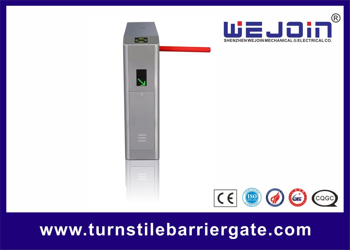 Control Time Attendance Tripod Turnstile Gate Full Automatic 490mm Arm Length