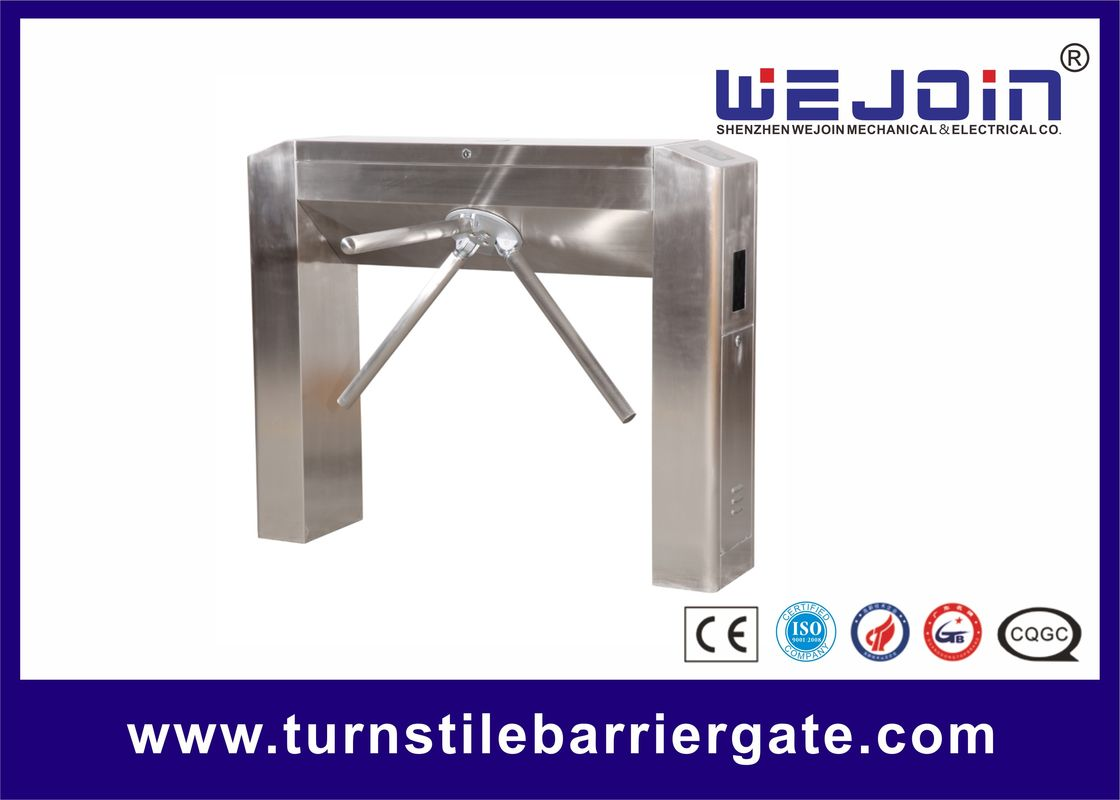 Three Arm Revolving Tripod Access Control System , Speed Gate Turnstile For Bus Station