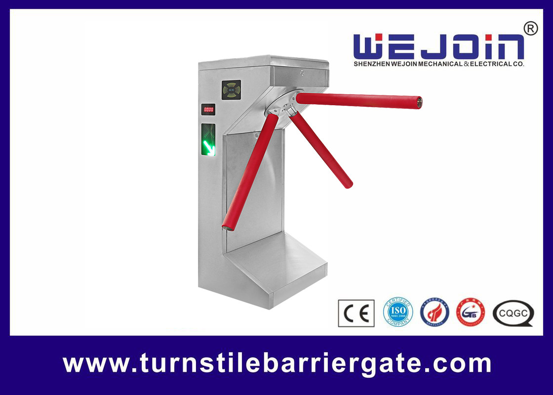 Full Automatic 304 Stainless Steel Intelligent Tripod Turnstile Barrier Gate