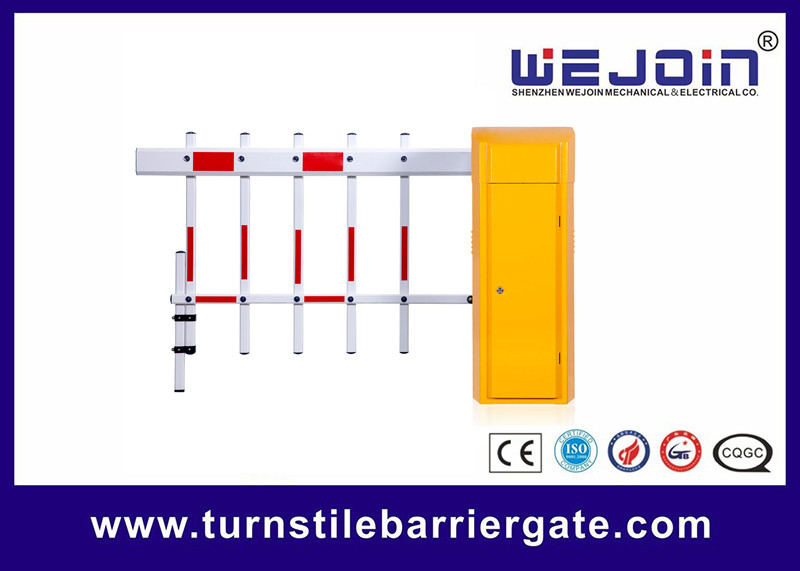 2 Fences Parking Entrance Barrier , Vehicle Barrier Gates For Parking Security System